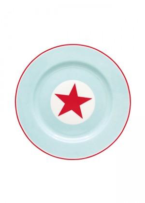 plato-greengate-estrellas-celeste-rojo-y-blanco-de-gres-menaje-de-mesa-greengate-online-20,5