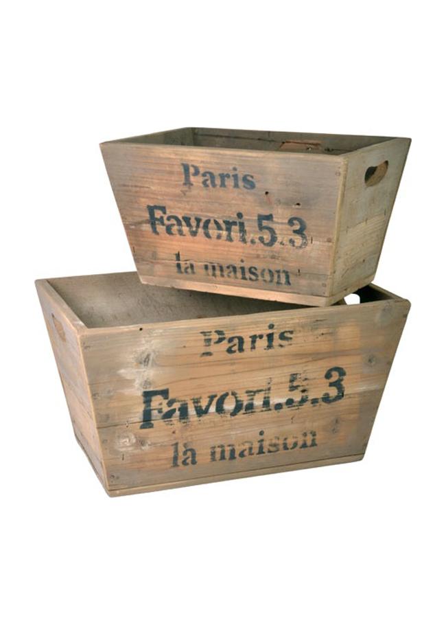 Comprar set cajas madera ib laursen online menaje de mesa - Cajas de madera online ...