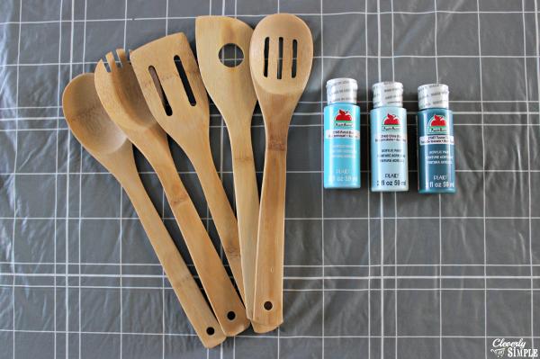 C mo pintar utensilios de madera for Utensilios de cocina de aluminio