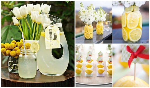 centros de mesa limones