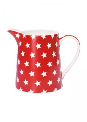 jarra-greengate-color-rojo-y-blanco-star-ceramica-menaje-online-