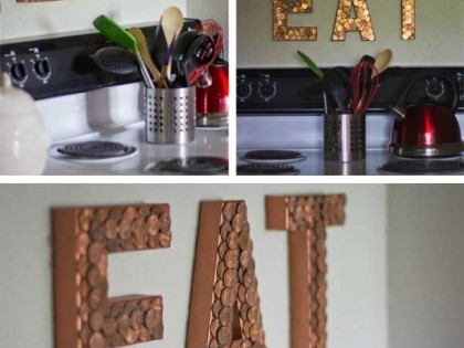 Cómo hacer unas letras luminosas con monedas en casa. DIY