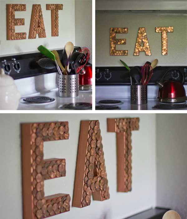 C mo hacer letras luminosas con monedas para decorar la casa for Decoration pieces making at home