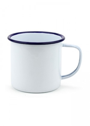 mini taza enamel blanco