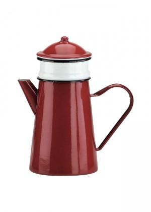 cafetera roja enamel