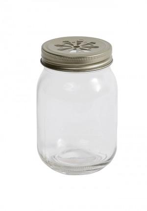 vaso cristal con pajita nordal