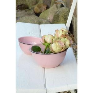 bol decorativo rosa enamel