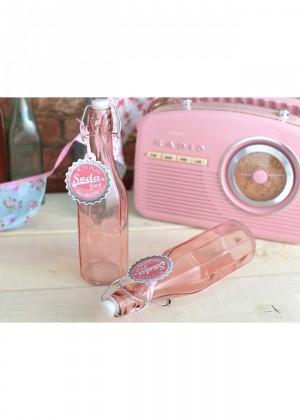botella soda rosa pastel
