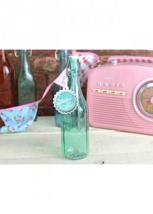 botella soda verde agua