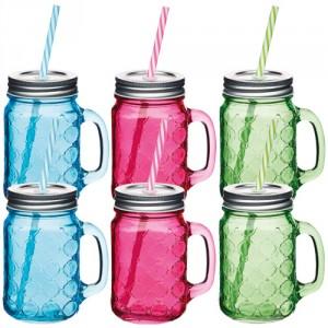 Comprar jarra cristal con pajita