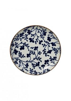 plato flor de lino azul tokyo design