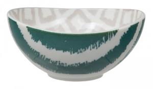 bol japones kasuri verde y gris