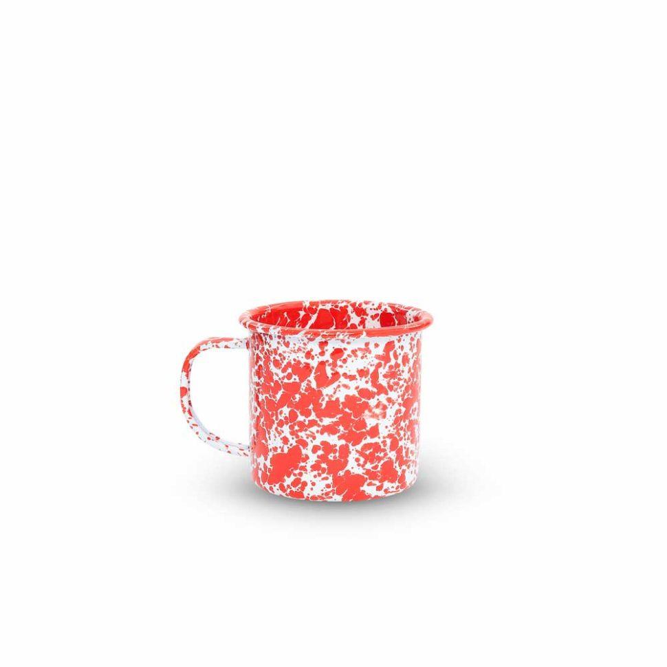 mug rojo blanco