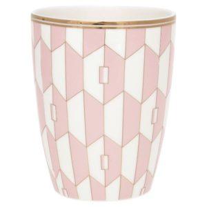 Latte cup Aurelie pale pink